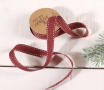 Red stitched ribbon