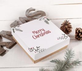 Scatola quadrata da regalo speciale Natale