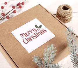 Etichetta quadrata di Buon Natale