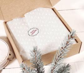 Confezione regalo in carta velina bianca
