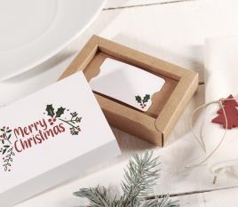 Christmas gift card box