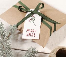 Weihnachtsetikettenpaket