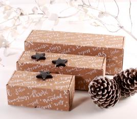 Scatola per spedizioni lunga Natale