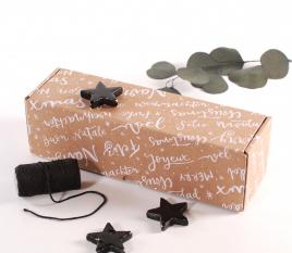 Rectangular shipping boxes Christmas edition