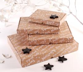 Scatola per invio postale Natale