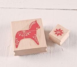 Rubber Stamp set Dala horse