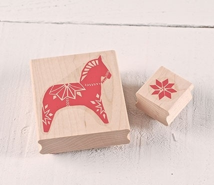 Rubber Stamp set Dala horse