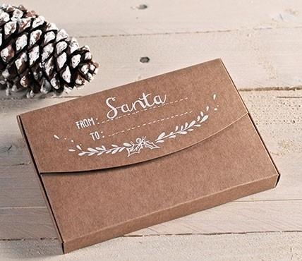 Cajas kraft impresas Santa