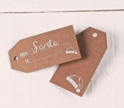 Gift labels with a message FROM Santa