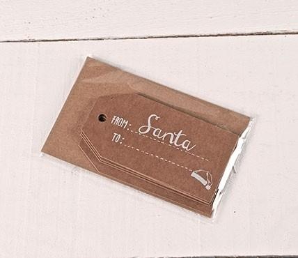 Etichette regalo stampate FROM Santa