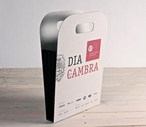 Cardboard bag with print