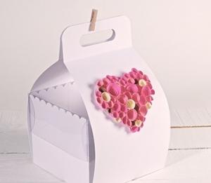 Caja con asa para pasteles