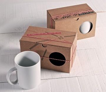Cajas kraft para dos tazas