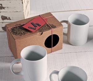 Caja sencilla para tazas