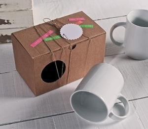 Schlichte Schachtel für zwei Tassen
