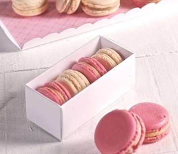Cajas rectangulares para macarons