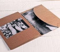 Cardboard folder for photos and CDs