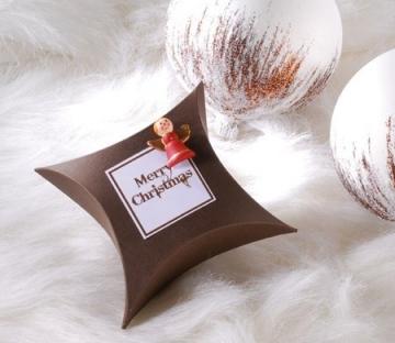 Caja regalo con angelito para Navidad