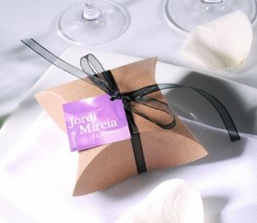 Caja en kraft para detalle de una boda