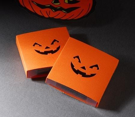 Cajita para Halloween con sonrisa terrorífica