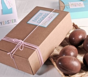 Cardboard boxes for Easter eggs
