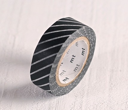 Washi tape rayas negras