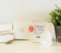 Gift box for CDs with tag