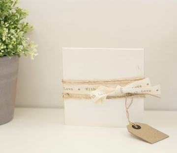 Gift box for CD with a rustic ribbon