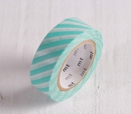 Washi Tape türkise Linien