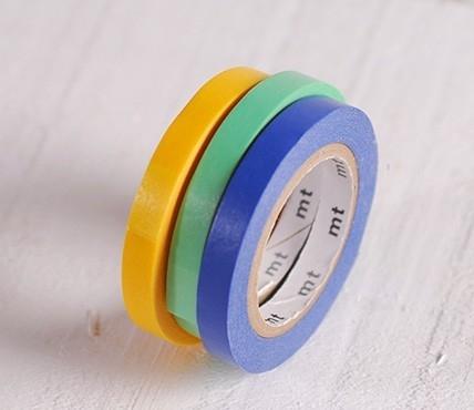 3 washi tapes colores primarios