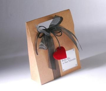 Bolsa regalo en kraft para San Valentín