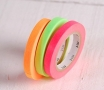 3 washi tape rolls neon colours
