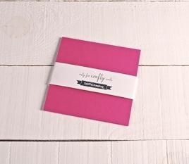 Fuchsienfarbige Karten 16,5 x 16,5 cm
