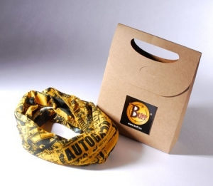 Gift bag with label for shops