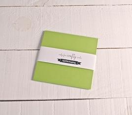 Cartoncini in verde pistacchio 16,5x16,5 cm