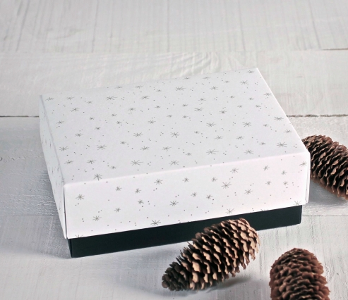 Caja regalo navideña con tapa