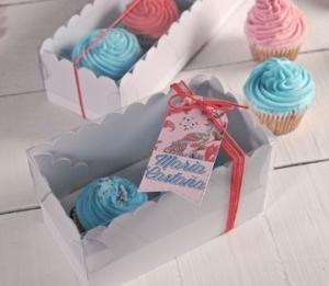 Scatola alta per due cupcake