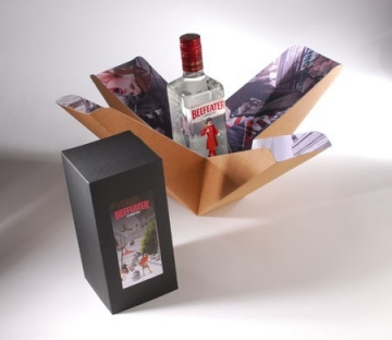 Bicolour gift box for bottles