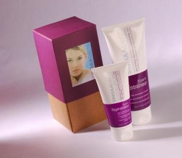 Caja regalo bicolor para cosméticos