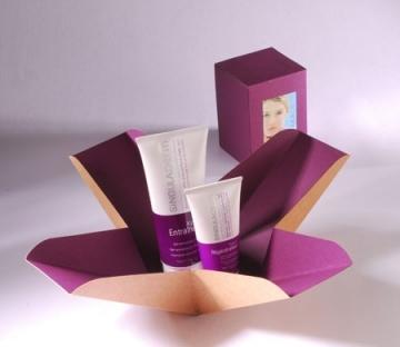 Bicolour gift box for cosmetics