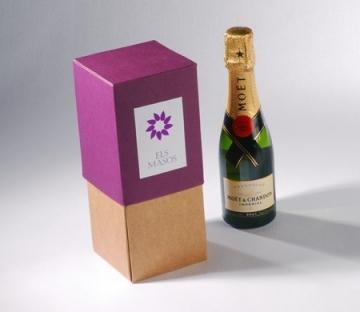 Caja regalo para botellas en dos colores