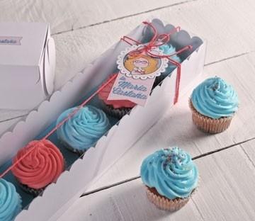 Cajas rectangulares para cupcakes