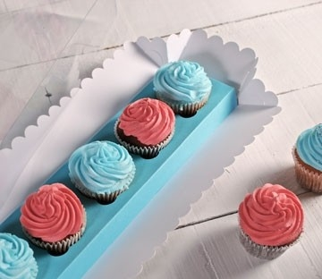 Rectangular boxes for 5 cupcakes