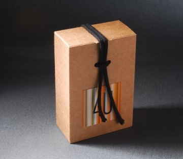 Little box with cord for company gifts