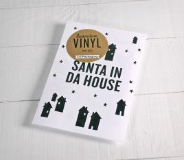 """Adesivo decorativo in vinile """"Santa in da house"""""""
