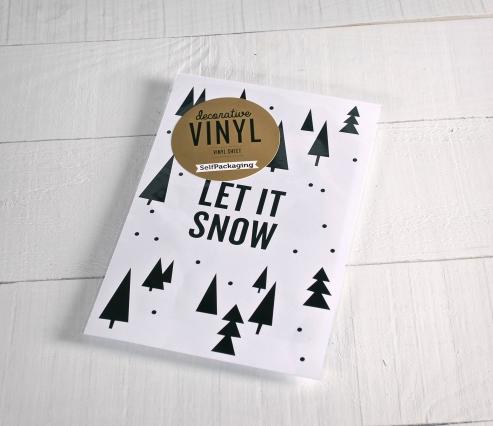 """Adesivi decorativi in vinile """"Let it snow"""""""