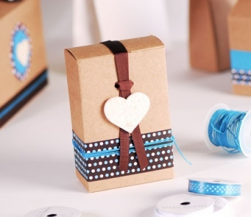 Cajita cuadrada para detalles de boda
