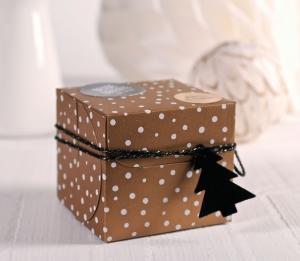 Scatolina quadrata per i regali di Natale