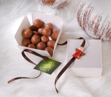 Cajita navideña para chocolates