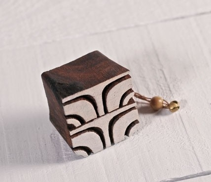 Sello de madera geométrico 1